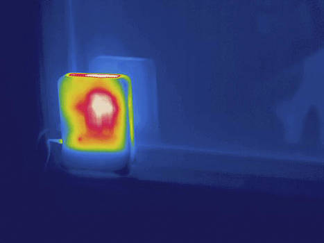 Wifi Router, Thermogram by Science Stock Photography