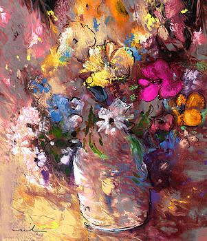 Miki De Goodaboom - Wild Flowers Bouquet in A Terracota Vase