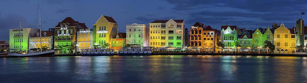Adam Romanowicz - Willemstad Curacao at Night Panoramic