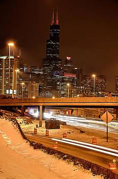 Willis Tower Chicago Winter 2014 by Michael  Bennett
