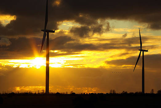 Wind Farm Sunset by Paul Wash