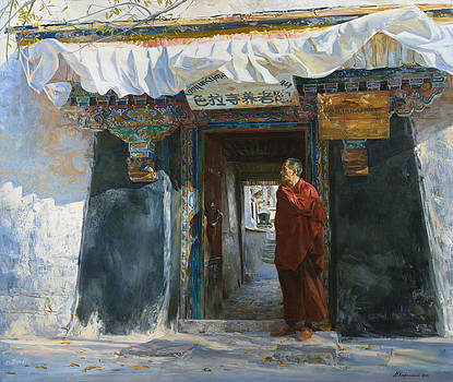 Wind in the Sera monastery by Victoria Kharchenko