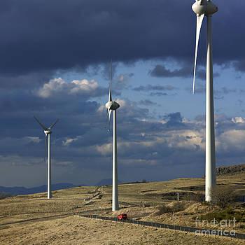 BERNARD JAUBERT - Wind turbines. Region Auvergne. France
