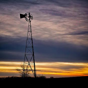 Jeff Burton - WIndmill at Sunset
