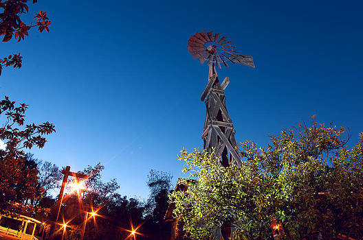 Windmill at Twilight by Greg Amptman
