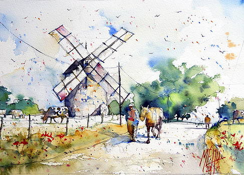 Windmill of Kercousquet by Andre MEHU