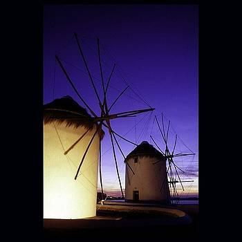 Windmills at Mykonos by Steve Outram