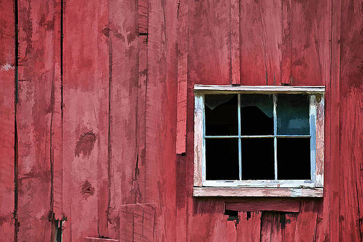 David Letts - Window on a Red Barn