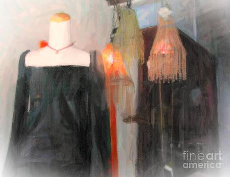 Kathleen K Parker - Window Shopping on Magazine Street in New Orleans digital art