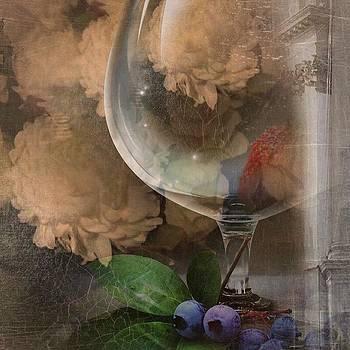 Wine Glass And Flowers by Georgiana Romanovna
