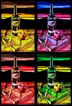Wine x 4 by Sharon Beth