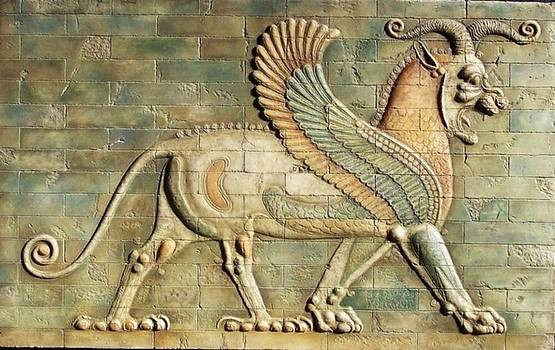 Winged lion. by Jose Manuel Solares