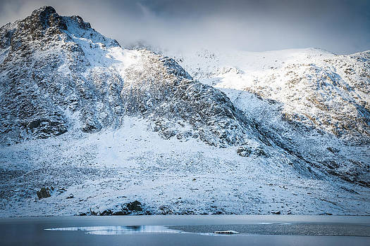 Winter at Cwm Idwal by Christine Smart