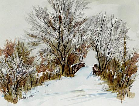 Winter Bridge by Art Scholz