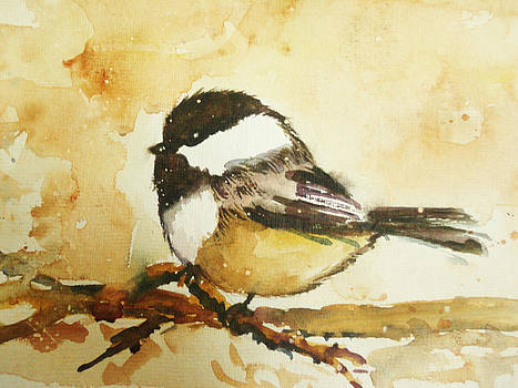 winter Chickadee by Charu Jain