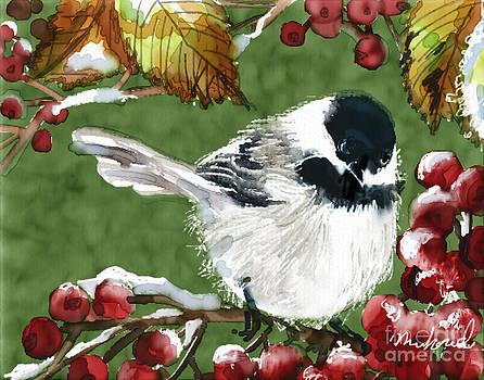 Winter Chickadee by Linda Minkowski