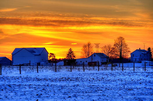 Winter Country Sunset by David Dufresne