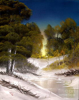 Winter Creek by Edward C Van Wicklen Sr