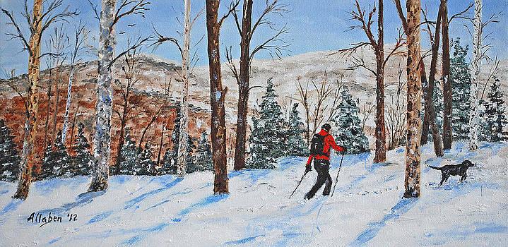 Winter In Vermont Woods by Stanton Allaben