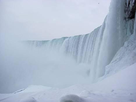 Winter Journey Behind Niagara Falls by Carolyn Mortensen