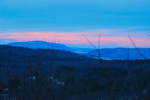Winter Mountain Sunset by Edward Hamilton