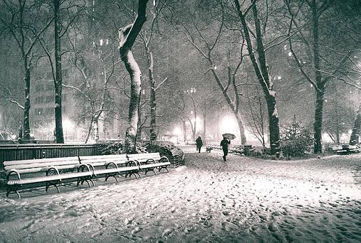 Winter Night - New York City - Madison Square Park by Vivienne Gucwa