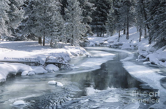 Sandra Bronstein - Winter on the Firehole River - Yellowstone National Park