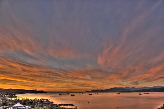 Winter Power Sunset by Doug Farmer