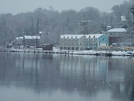Winter Rail Car Scene by Geoffrey McLean