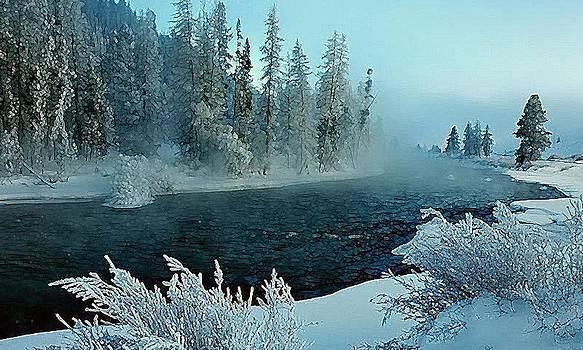 Winter River by John Davis