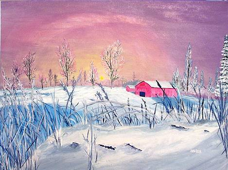 Winter Scene 1 by David Bartsch