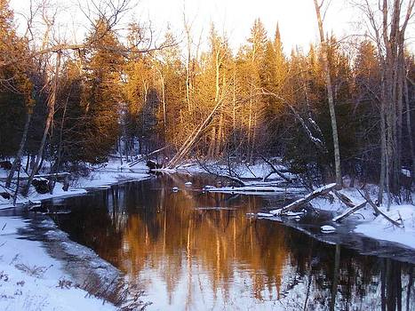 Winter Stream in the UP by Feva  Fotos