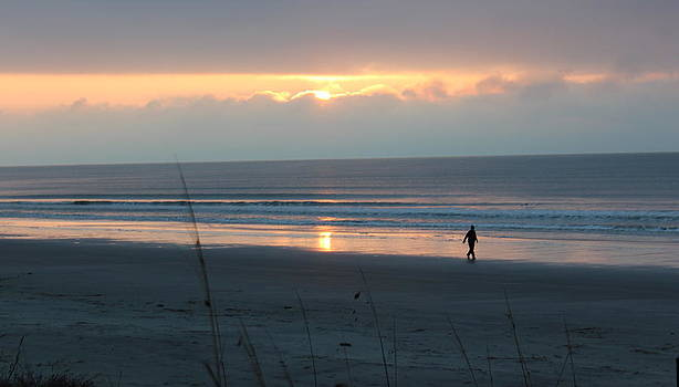 Rosanne Jordan - Winter Sunrise Beachwalker