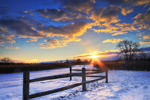 Winter Sunset by Victoria Winningham