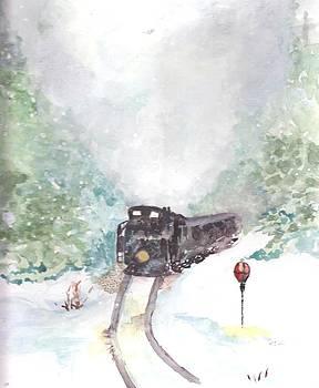 Winter Train Ride by Sandi Stonebraker