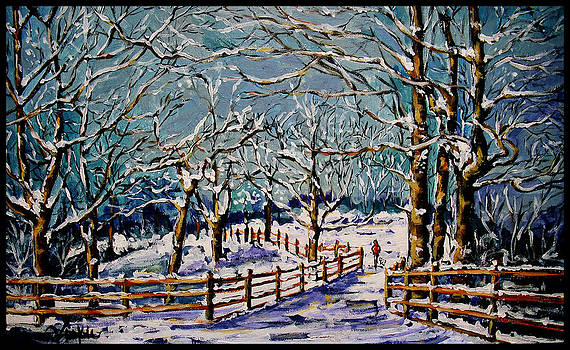 Winter Walk by Vickie Warner