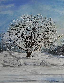 Winter Wedding Tree by Connie Rowsell