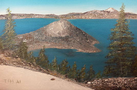 Wizard Island - Crater Lake by Tim Ai