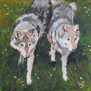 Wolf Duo by Dorothy Jenson