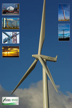Wolfe Island Wind Farm Montage by Paul Wash