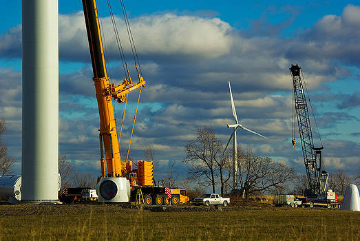 Wolfe Island Wind Farm Progress by Paul Wash