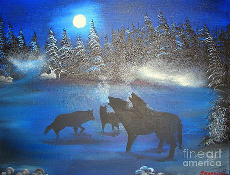 Wolves in the Wilderness by John Morris