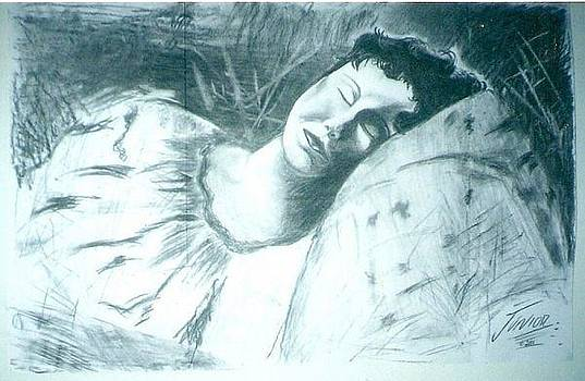Woman Dreaming by Junior Omni