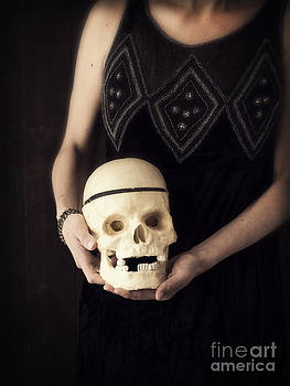 Edward Fielding - Woman Holding Skull