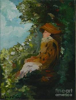 Woman in Garden by Denisa Laura Doltu