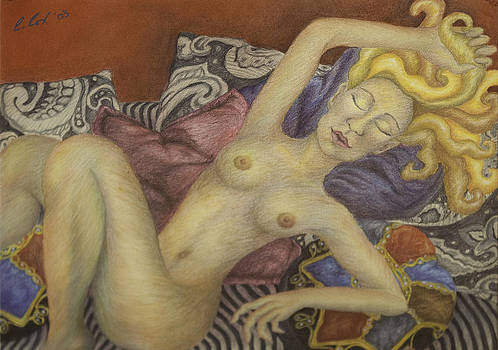 Woman on my Couch by Claudia Cox