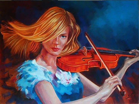Woman playing Violin  by Ahmed Bayomi