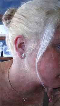 Woman With Diamond Studs by Judy Paleologos