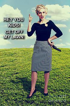 Woman with Gun by Rob Byron