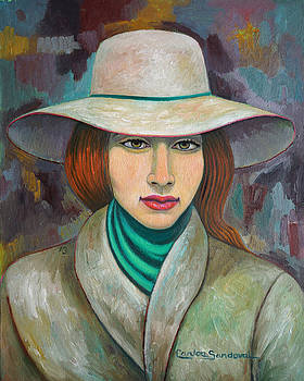 Woman with Scarf by Carlos Sandoval